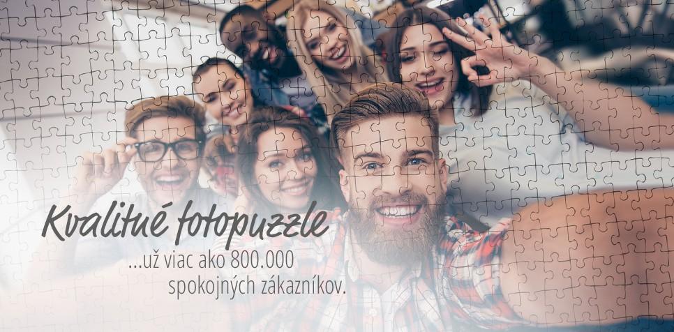 Puzzle z fotky: spokojní zákazníci