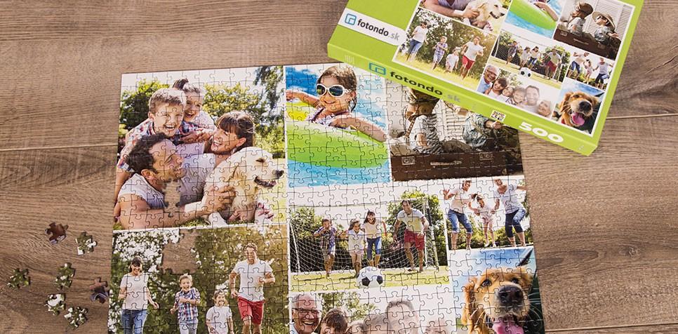 Puzzle z fotky ako koláž v Jednoduchom štýle