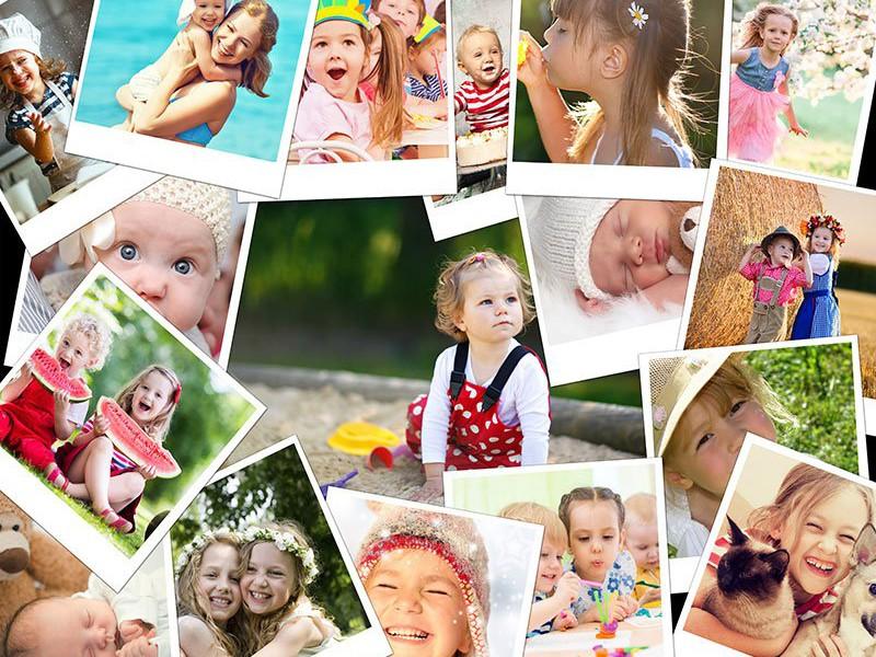 Prekrývajúce sa fotky – Koláž na puzzle z fotky 17 fotiek