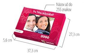 Veľkosť škatuľky pre puzzle  -  fotopuzzle s 2000 dielikmi
