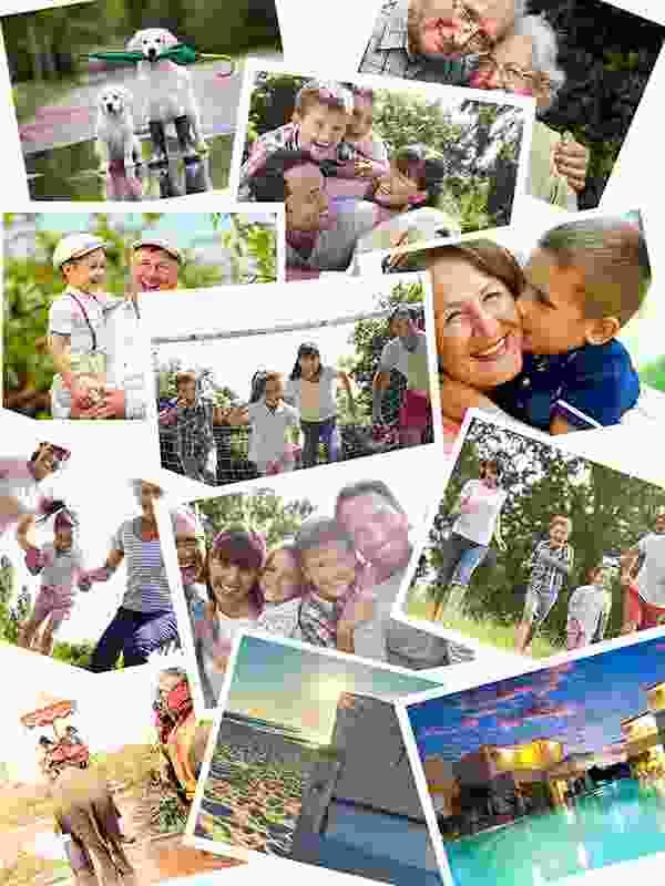 Prekrývajúce sa fotky – Koláž na puzzle z fotky 12 fotiek