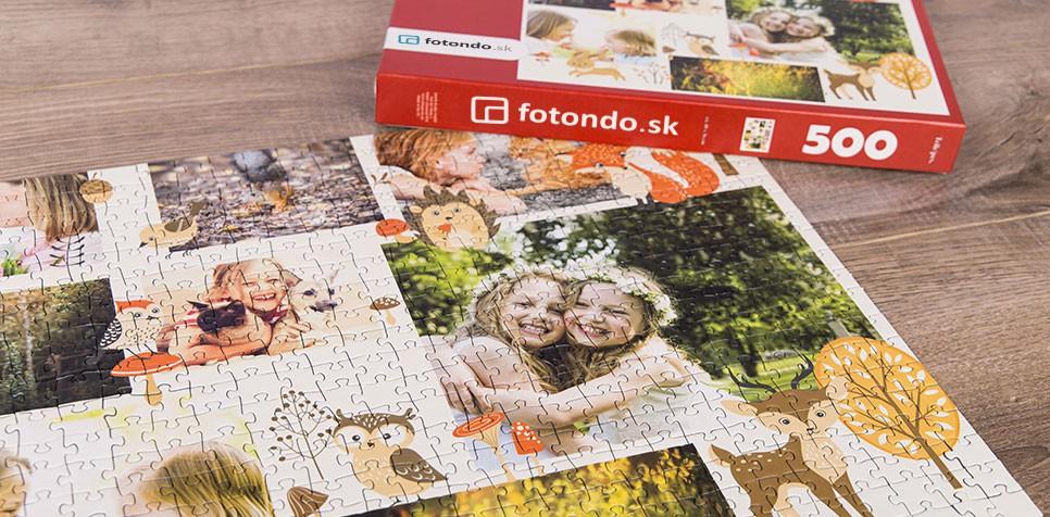 Puzzle z fotky ako koláž s Ilustráciou