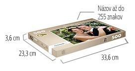 Veľkosť škatuľky pre puzzle  -  fotopuzzle s 500 dielikmi