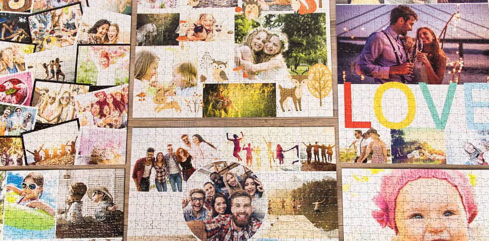 Teaser: Photo Puzzle Collage Layout-Overview
