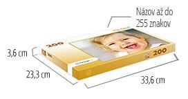 Veľkosť škatuľky pre puzzle  -  fotopuzzle s 200 dielikmi