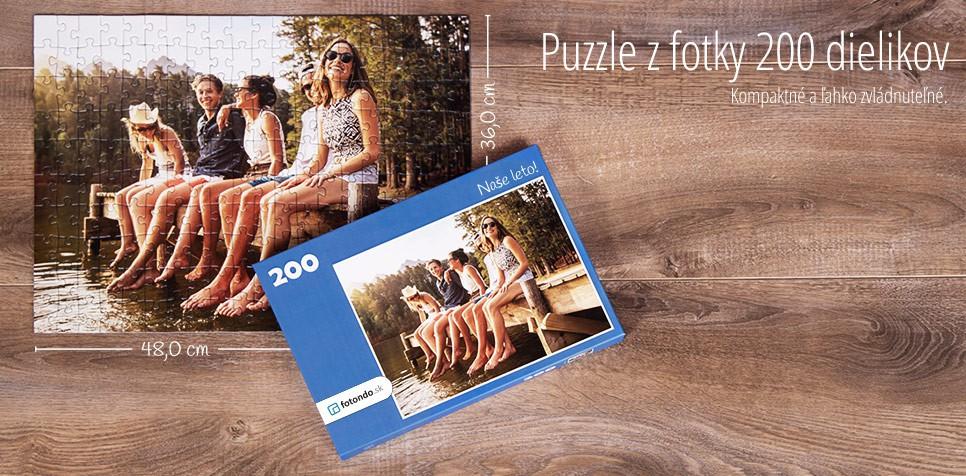 200-dielikové puzzle z fotky